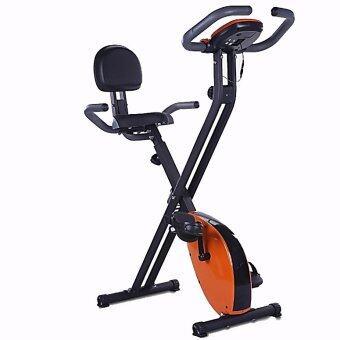 Fitness@Home จักรยานออกกำลังกาย ระบบแม่เหล็ก Magnetic X-Bike รุ่น FN023 (สีส้ม)