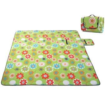 Harga 360DSC Fleece Camping Hiking Moistureproof Ground Mat Tent Picnic Mat Sleeping Plaid Mat 200*150cm - Sunflower