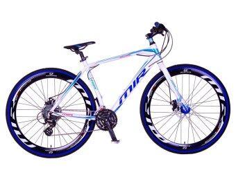 MIR จักรยานไฮบริด 700C / ตัวถัง อลูมิเนียม ไซส์ 49 / เกียร์ SHIMANO 24 สปีด / รุ่น OMICRON (สีฟ้า/ขาว)