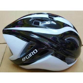 CBIKE Giro หมวกกันน็อกจักรยาน สีดำแถบขาว หมวกจักรยาน หมวกทรงแอโร่ใส่ได้ทั้งชาย/หญิง(57-62)