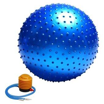 Kinglion Sport 65CM ลูกบอลโยคะผิวหนามสีน้ำเงิน โยคะบอล ลูกบอลออกกําลังกาย ฟิตบอล ลูกบอลฟิตเนส ฟิตเนสบอล ยิมบอล อุปกรณ์ฟิตเนส ออกกําลังกายลดพุง Blue Fitball Fitness Ball Yoga Ball Massage Ball