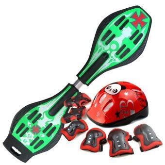 Snakeboard สเน็คบอร์ด Freestyle สีเขียว Set Pro
