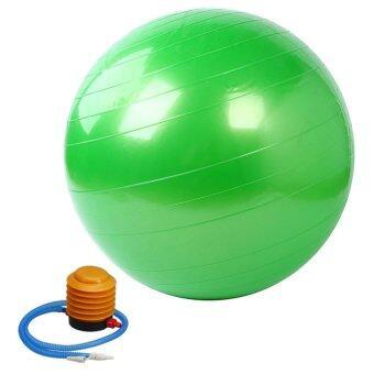 Kinglion Sport 75CM ลูกบอลโยคะผิวเรียบสีเขียว โยคะบอล ลูกบอลออกกําลังกาย ฟิตบอล ลูกบอลฟิตเนส ฟิตเนสบอล ยิมบอล อุปกรณ์ฟิตเนส ออกกําลังกายลดพุง Green Fitball Fitness Ball Yoga Ball Massage Ball