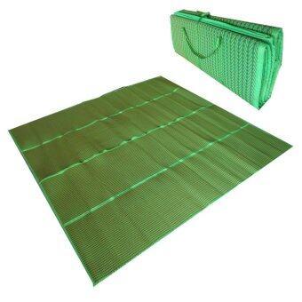 Thai Style เสื่อพับยางพาราปิคนิกขนาด 2.0*1.8 เมตร (สีเขียว)