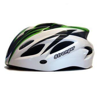 Stronger หมวกจักรยาน รุ่น V-105 (สีขาว/เขียว/ดำ)