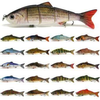ชีวิต ' เหยื่อล่อปลาประมงหลายอวัยวะใบหน้า Swimbait Pike ตะขอเกาะ