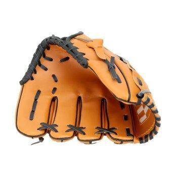 26.67ซม/29.21ซม/31.75ซมซอฟท์บอลเบสบอลทีมกีฬากลางแจ้งถุงมือข้างซ้ายสีน้ำตาล