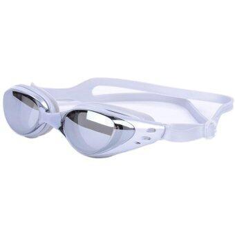 แว่นตาว่ายน้ำกันยูวี UV กันฝ้า เลนส์เคลือบเงา - สีเทา