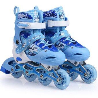รองเท้าสเก็ต โรลเลอร์เบลด รุ่น G-MIQI ไซส์ 34-37(สีน้ำเงิน)