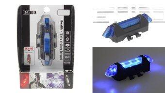 An Qi You Rapid-X ไฟจักรยาน ไฟสัญญาน LED สีน้ำเงิน ชาร์จ USB กันน้ำ