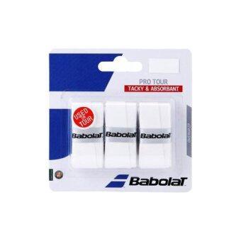 BABOLAT กริ๊ปพันด้ามไม้เทนนิส PRO TOUR X 3 WHITE-16 (สีขาว)