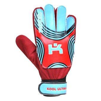 KOOL PRO ถุงมือโกล์ว ฟุตบอล Football Gloves keeper Ultima (Red)