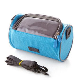 กระเป๋านักปั่น กระเป๋าใส่อุปกรณ์และของใช้นักปั่น มีช่องใส่โทรศัพท์ที่สามารถสั่งงานหน้าจอได้ในขณะปั่นจักรยาน ( สีฟ้า )