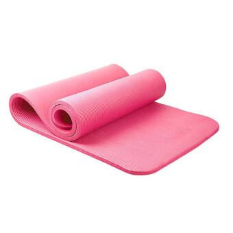 Smilely 11 mm เสื่อโยคะNBR + แผ่นรองโยคะ หนาพิเศษยาว183 cm เกรดA ชุดโยคะ แผ่นรองโยคะ เสื่อโยคะ Smile0077-pink สีชมพุ