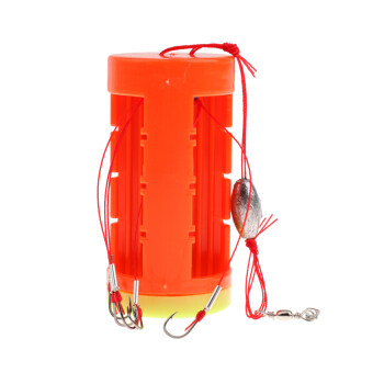 Harga MagiDeal 8# Cluster Bomb Explosion Hooks with Bait Holder Fishing Hook Tackle Set - intl