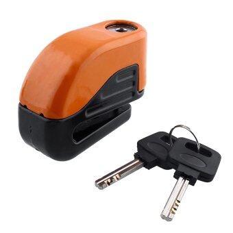 DISC BRAKE LOCK กุญแจล็อคล้อรถจักรยานยนต์ รุ่น 1206 (สีส้ม)