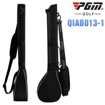 PGM กระเป๋าใส่ไม้กอล์ฟ สีดำแถบเทา QIAB013