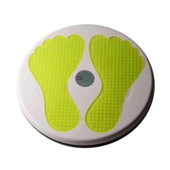 จานทวิส จานหมุนเอว รูปรอยเท้า (สีเหลือง) Twist Disc / Twist Plate / Twister