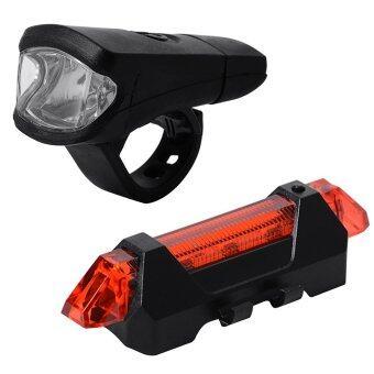 ไฟหน้าจักรยาน + Flashing Light 5 LED ไฟเพื่อความปลอดภัย