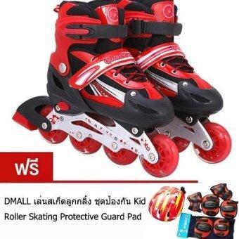 HS รองเท้าสเก็ต โรลเลอร์เบลด Roller Blade Skate รุ่น S=27-32 M=33-37 L= 38-41 Free skating Protective suit SIZE L