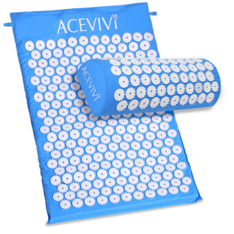 Harga Cyber ACEVIVI Acupressure Mat Relieve Stress Pain Acupuncture Spike Yoga Mat with Pillow (Blue)