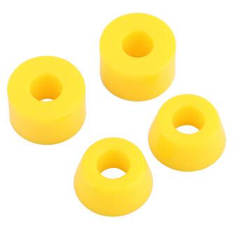 โอ้ 4ชิ้น 55D หนักปูบุชกันกระแทกสำหรับกีฬากลางแจ้งส่วนเปียกสีเหลือง