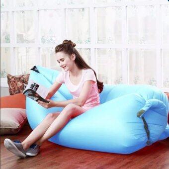 โซฟาลม (สีฟ้า) ที่นอนลม ใช้งานง่าย พับเก็บง่าย แบบพกพา Air Sofa มี 8 สี