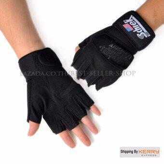 Schiek ถุงมือยกน้ำหนัก ถุงมือฟิตเนส Fitness Glove (สีดำ XL)
