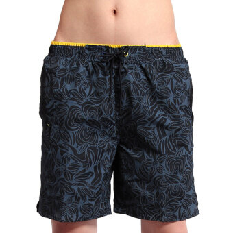 Harga AOXINDA Men Swimming Quick-dry Sports Surf Board Beach Shorts (S-1101)Size M Dark Blue