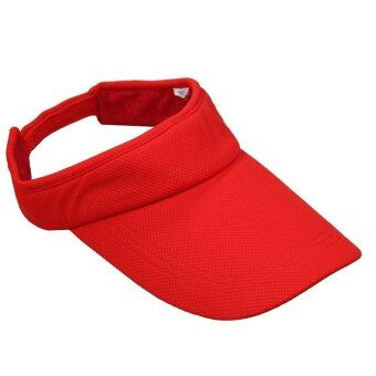 Harga Attractive Cotton Blend Sports Outdoor Casual Visor Hats Caps Red