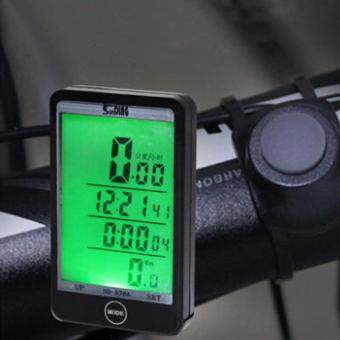 Harga Multifunction Cycling Odometer Wired Bicycle Computer Bike Speedometer - intl