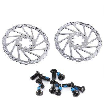 Harga 2pcs Stainless Steel Bicycle Disc Brake Rotor Bike Accessory with Bolts (180mm) - intl
