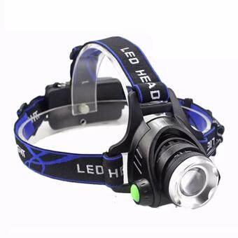 DD SHOP CREE โคมไฟสวมศีรษะ XM-L T6 LED 2000Lm blue 1 pcs