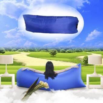 DT โซฟาลม ที่นอนเป่าลม แบบพกพา Air Sofa (สีน้ำเงิน)