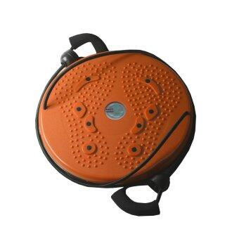 จานทวิส จานหมุนเอว แบบมีเชือก (สีส้ม) Twist Disc / Twist Plate / Twister