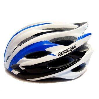 Stronger หมวกจักรยาน รุ่น V-104 (สีขาว/น้ำเงิน/ดำ)