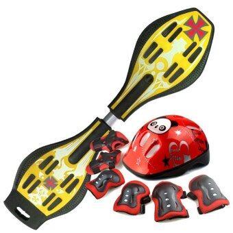Snakeboard สเน็คบอร์ด Freestyle สีเหลือง Set Pro
