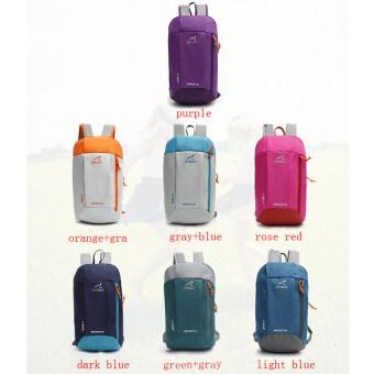 2559 คุณภาพสูง 7 สี 10ลิตรกันน้ำกระเป๋าเป้กระเป๋าเป้เดินป่าเบาเป็นพิเศษไนลอนกลางแจ้ง (น้ำเงิน)