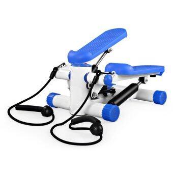 Spint Mini Stepper เครื่องบริหารต้นขา เอว น่อง แบบสเต็ป เครื่องออกกำลังกาย Mini Stepper มาพร้อมสายแรงต้าน (สีน้ำเงิน)