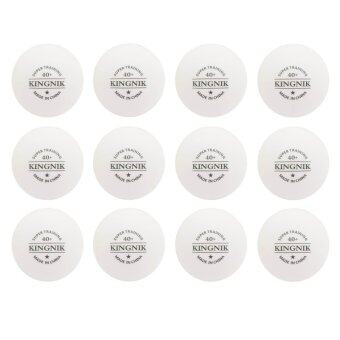 Kingnik ลูกปิงปองพลาสติค 40+ Super Training 1 ดาว สีขาว (12 ลูก)