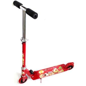 Scooter สกู๊ตเตอร์ 2 ล้อ ขนาด 4 นิ้ว (สีแดง)