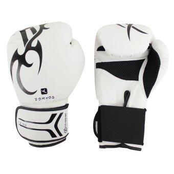 DOMYOS boxing gloves นวมชกมวย FKT180 12 ออนซ์ นวมชกมวย สำหรับมือใหม่ และขึ้นชก (สีขาว)