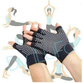 iLuFa ถุงมือโยคะ สีดำ