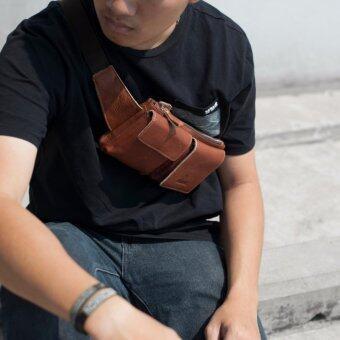 SN Collection กระเป๋าคาดเอว คาดอก หนังแท้ เหมาะสำหรับผู้ชายเท่ห์ๆ รุ่น NF32