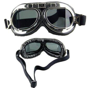 แว่นกันลมเลนส์ใส สไตล์มอร์-ไซค์ช็อปเปอร์