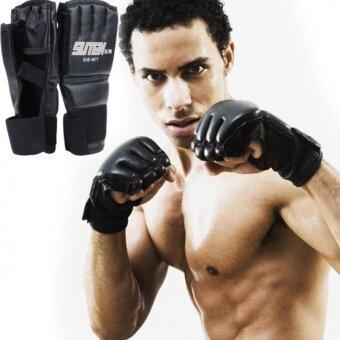 Yidabo 1 คู่เย็น MMA ฝึกมวยไทยชกหมัดมวยถุงมือถุงมือครึ่งกระเป๋า