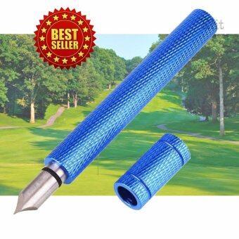 Elit อุปกรณ์เซาะร่องหน้าเหล็กไม้กอล์ฟ V Groove Sharpening Tool - Blue