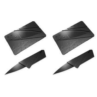 การ์ดมีดพกพาขนาดบัตรเครดิต (สีดำ)2 ชิ้น
