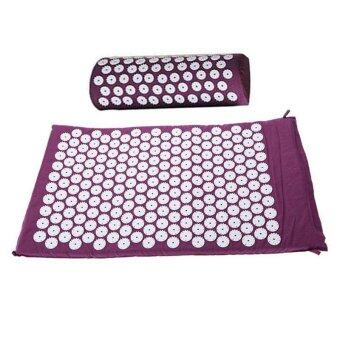 Harga PAlight Massage Cushion Acupressure Mat Relieve Stress Pain Acupuncture Spike Yoga Mat( With Pillow) - intl