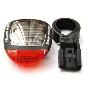 Mustme Bicycle tail light ไฟท้ายจักรยาน แบบแผงโซล่าเซลล์ เก็บประจุนาน 8 ชั่วโมง สีแดง